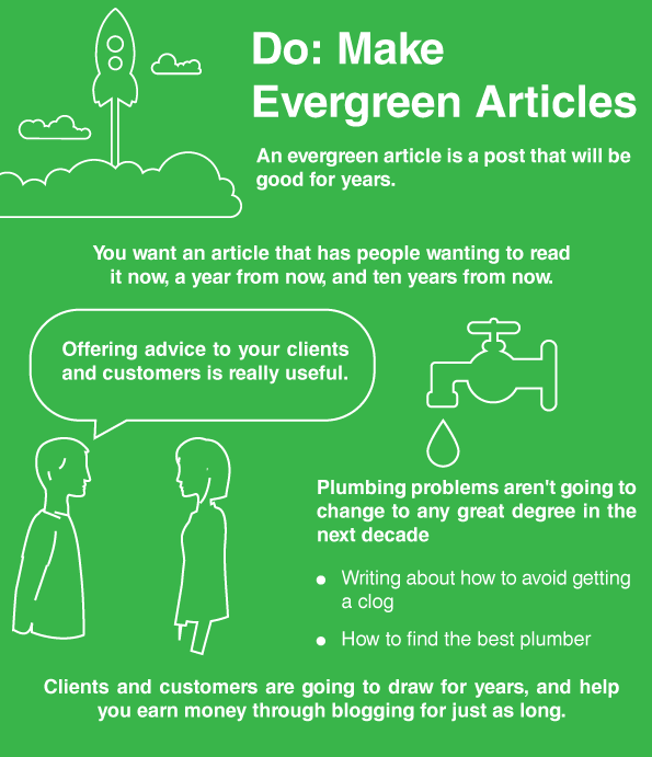 do make evergreen articles