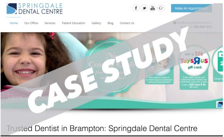 SEO-case-study-springdale-dental-centre