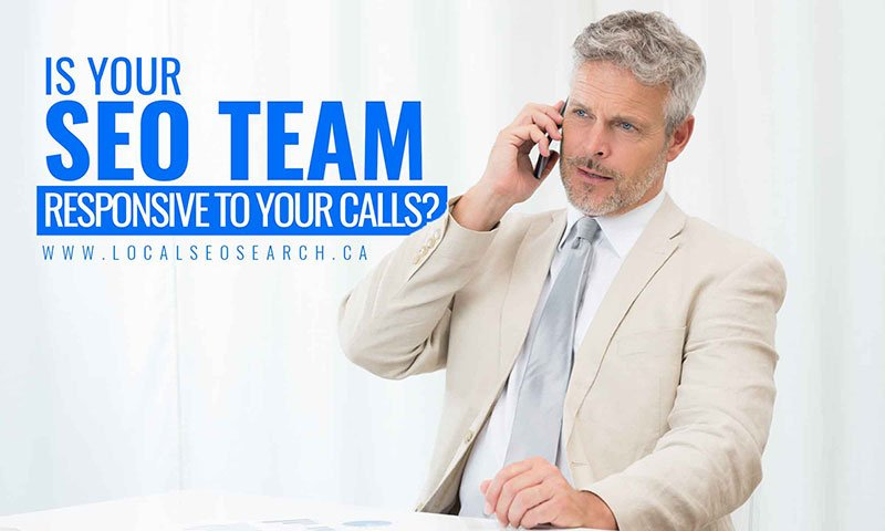 Is your SEO team responsive to your calls