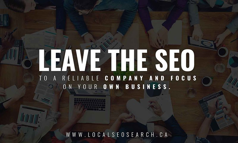 Leave the SEO to a reliable company and focus on your own business