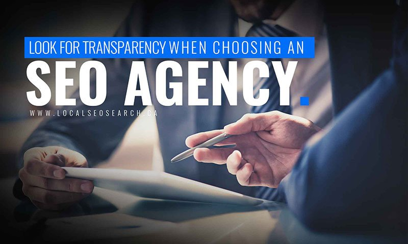 Look for transparency when choosing an SEO agency