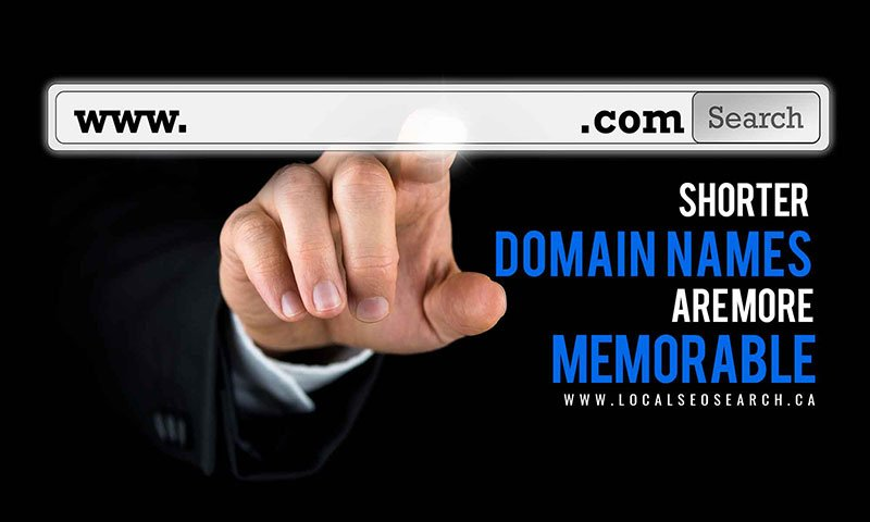 Shorter domain names are more memorable