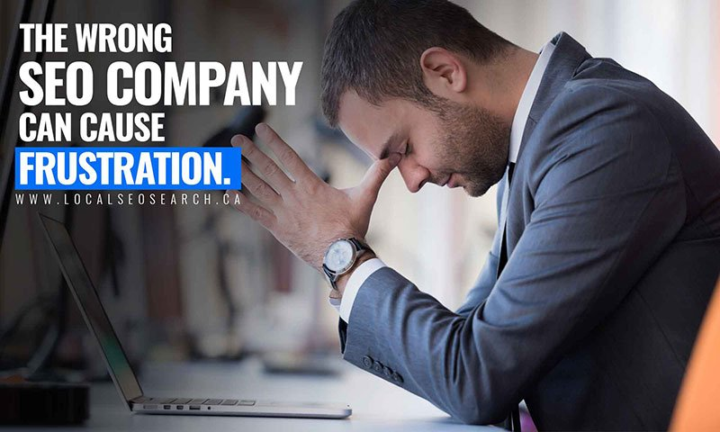 The wrong SEO company can cause frustration