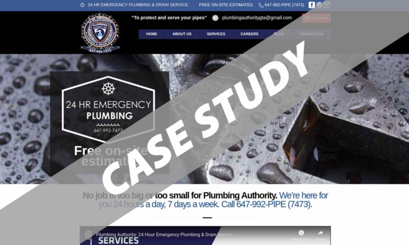 SEO Case Study: Plumbing Authority