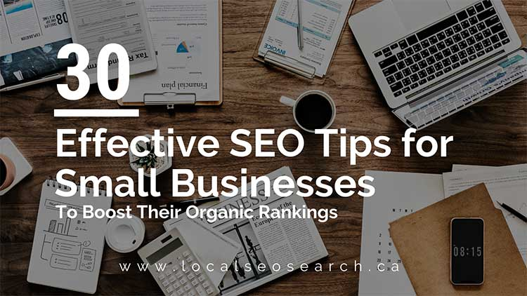 effective seo tips for small busineses