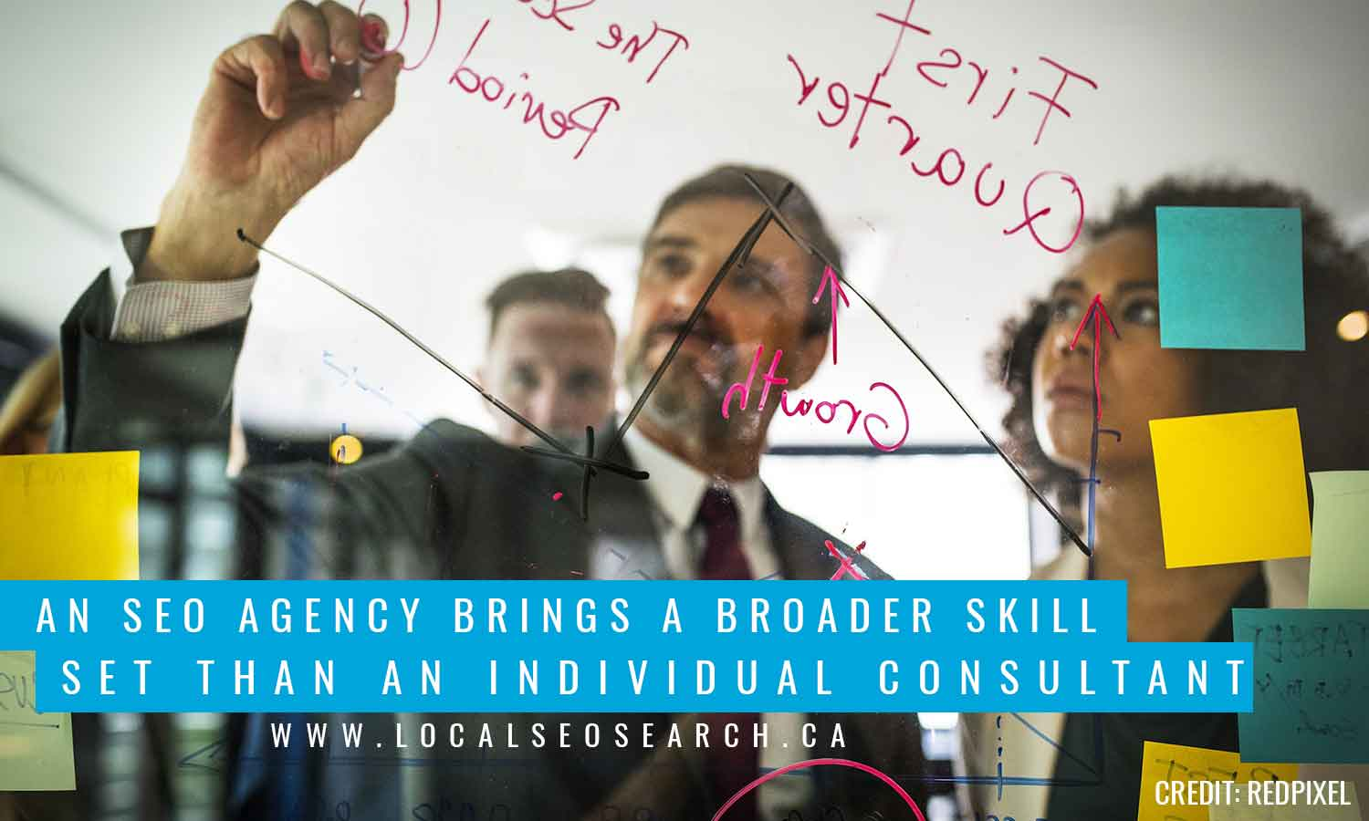 An SEO agency brings a broader skill set than an individual consultant