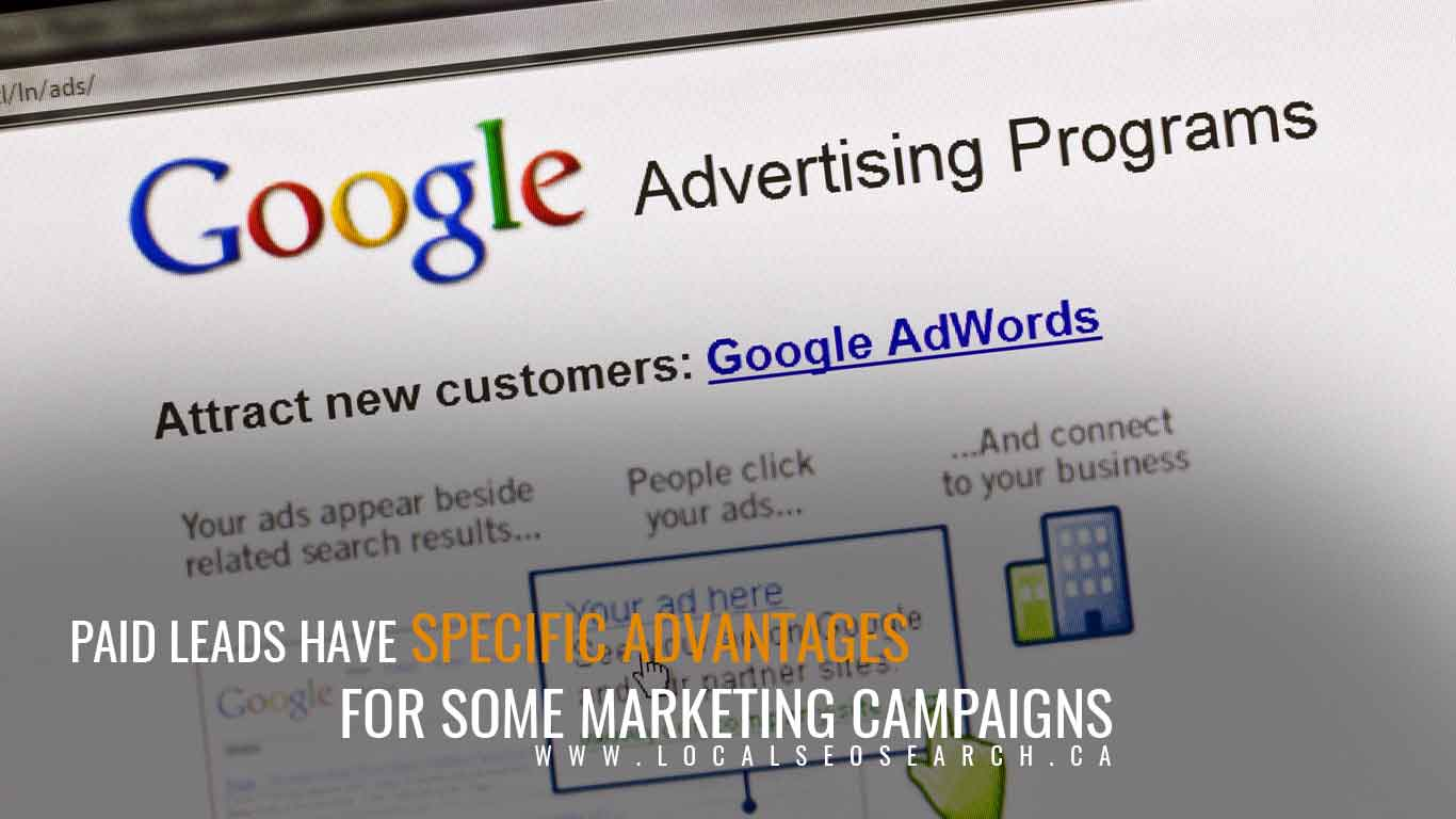 Paid leads have specific advantages for some marketing campaigns