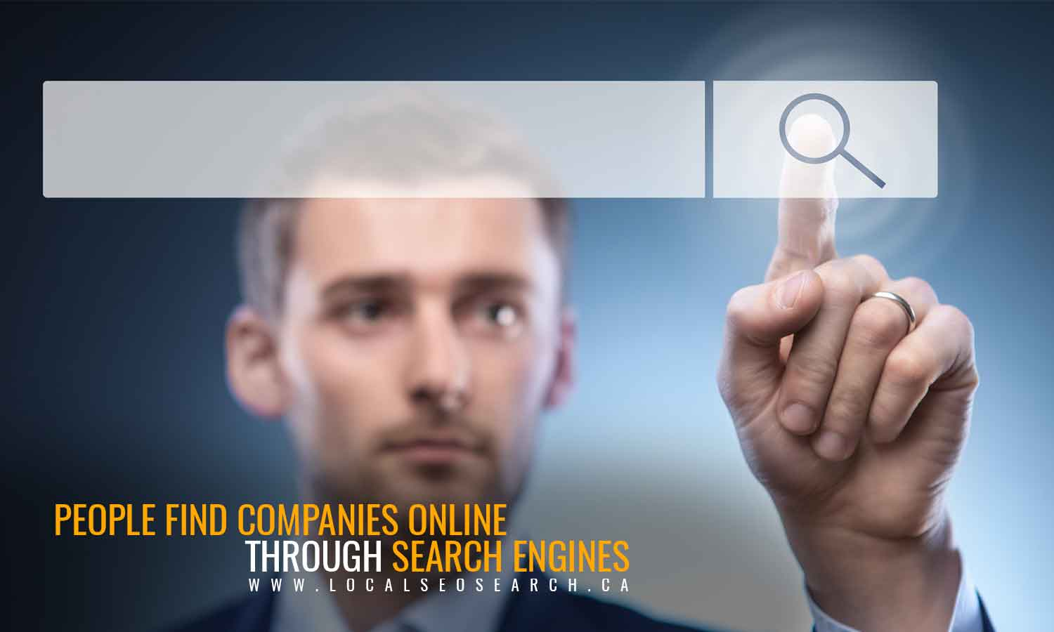People find companies online through search engines