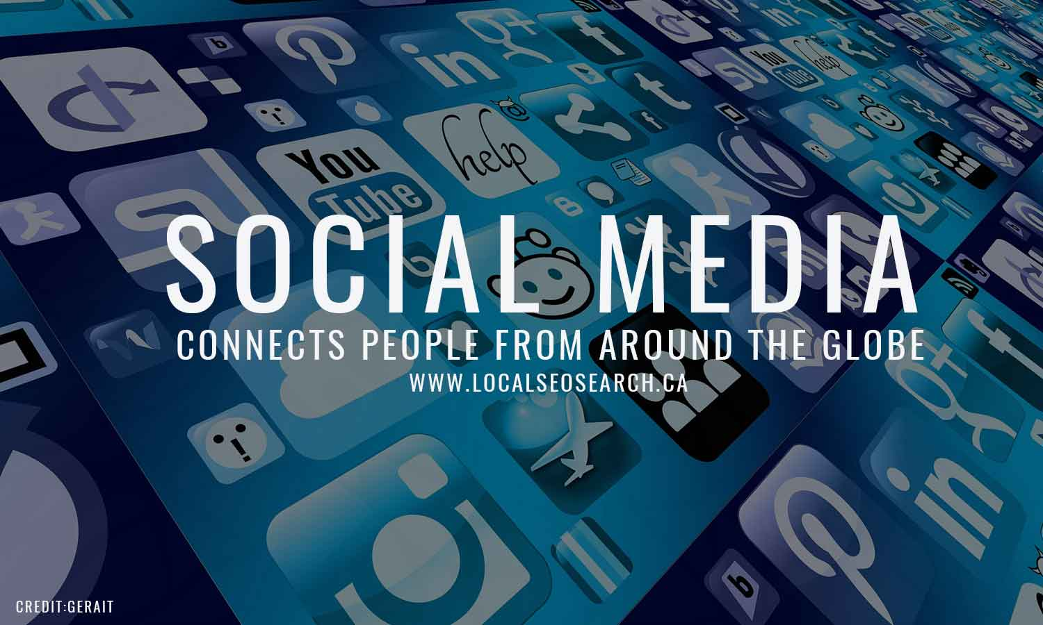 Social Media connects people from around the globe