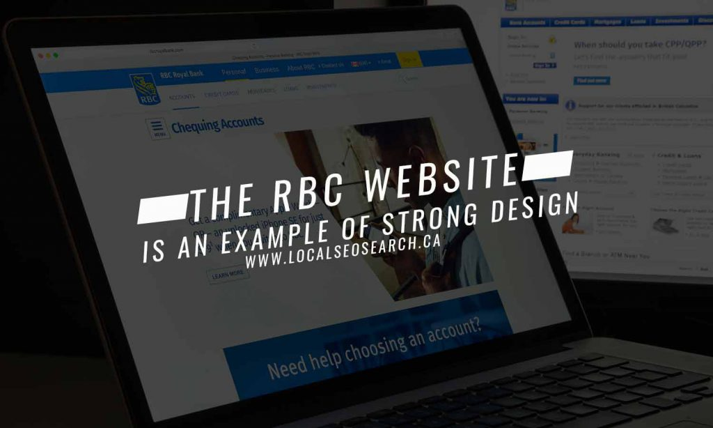 The RBC website is an example of strong design