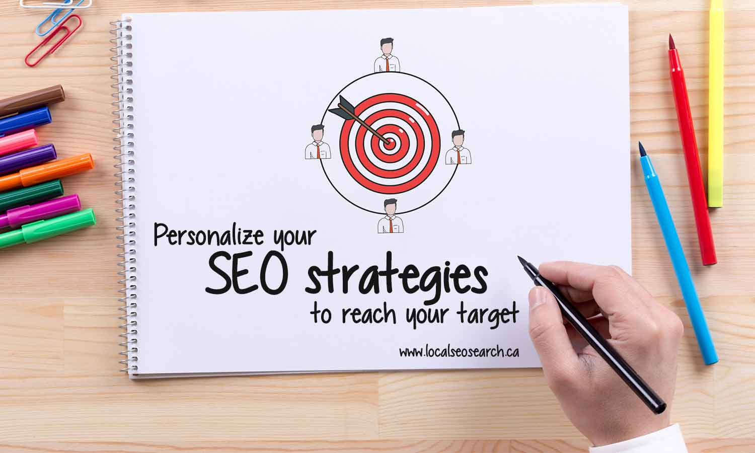 Personalize SEO strategies reach target