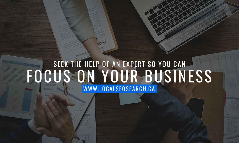 Seek help of expert focus on business
