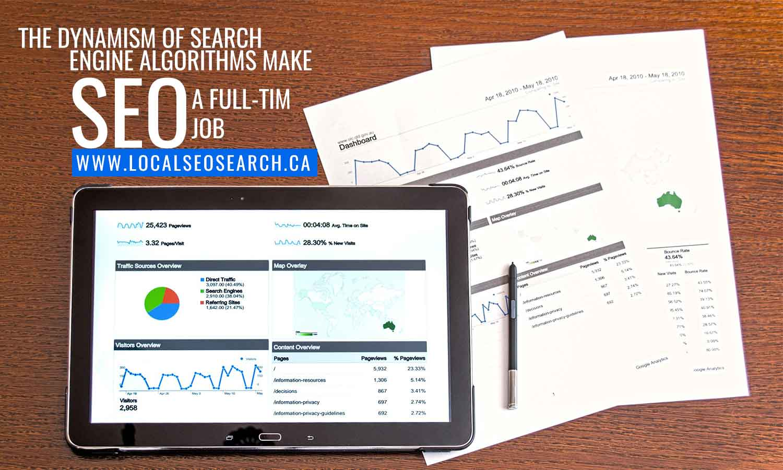 dynamism search engine algorithms make SEO full-time job