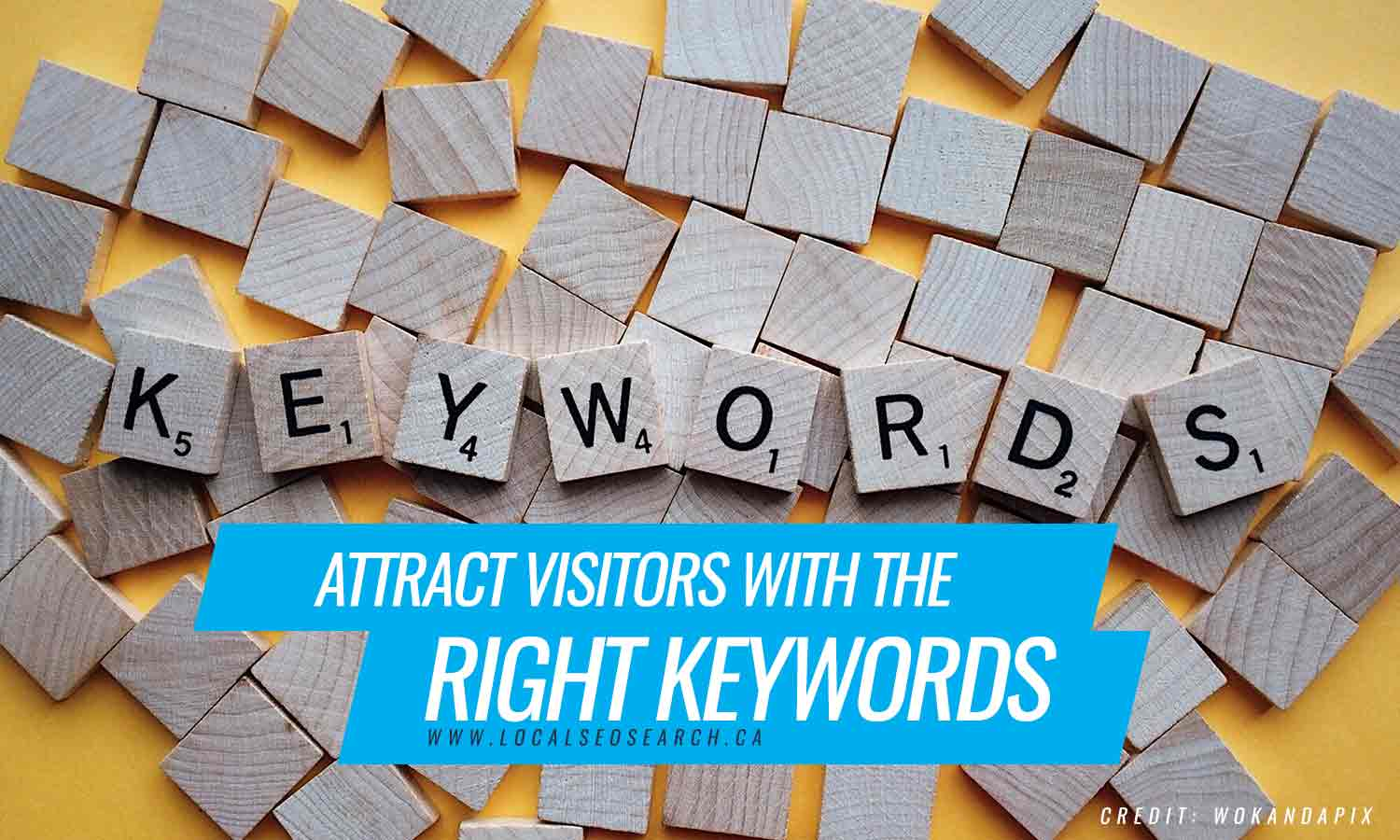 Attract visitors with the right keywords