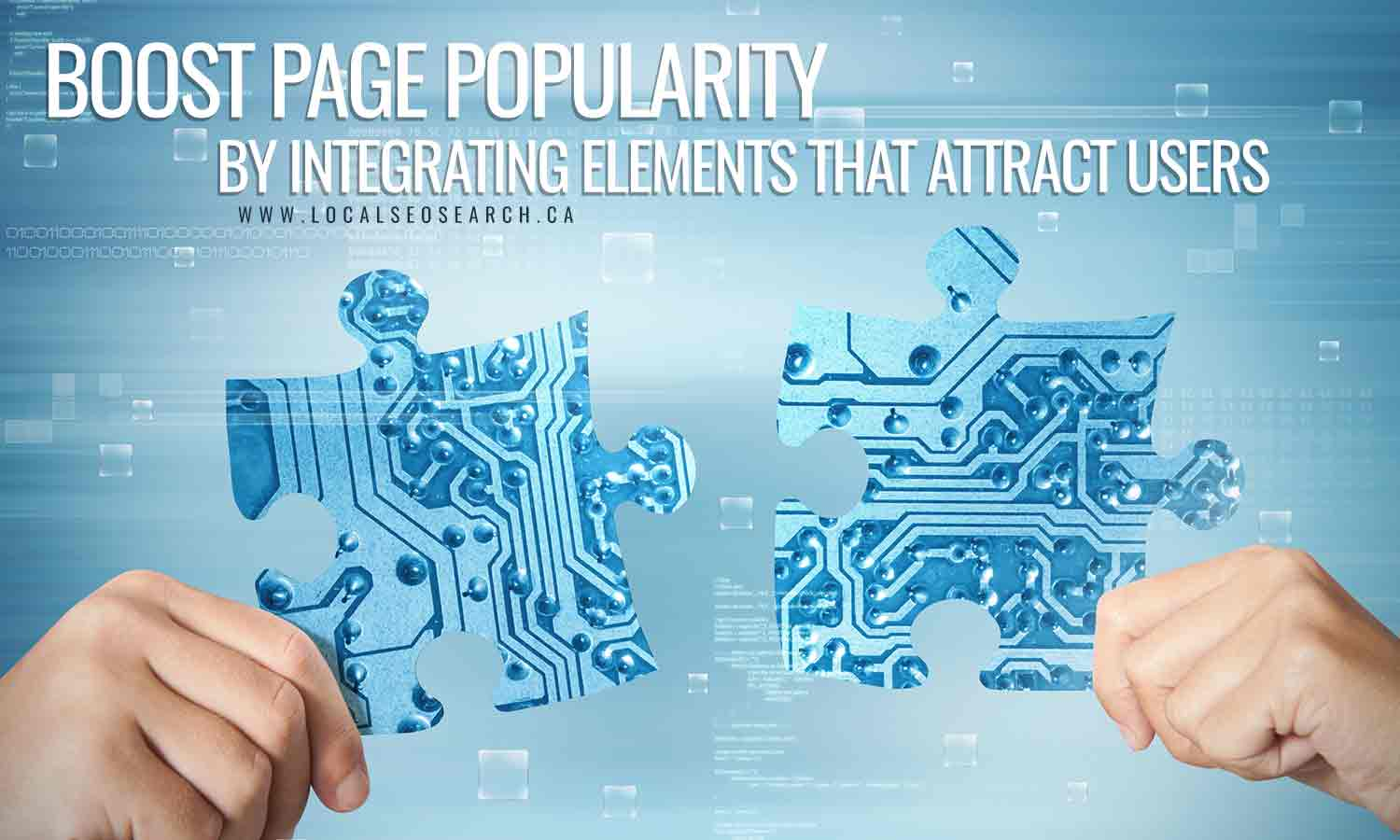 Boost page popularity by integrating elements