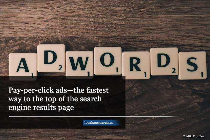 Pay-per-click ads—the fastest way to the top of the search engine results page