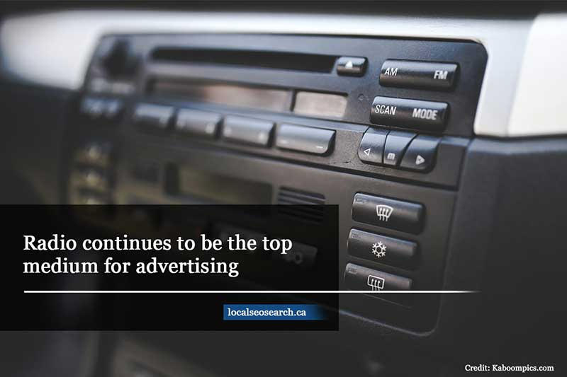 Radio continues to be the top medium for advertising