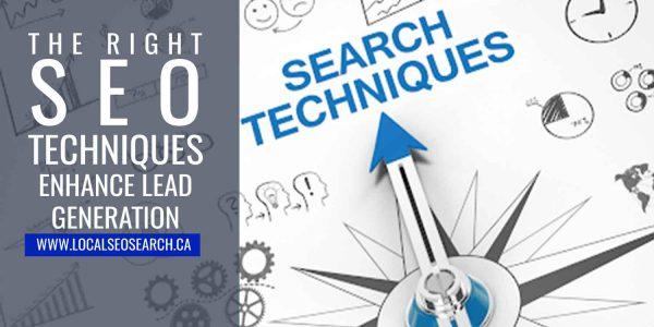 right SEO techniques enhance lead generation