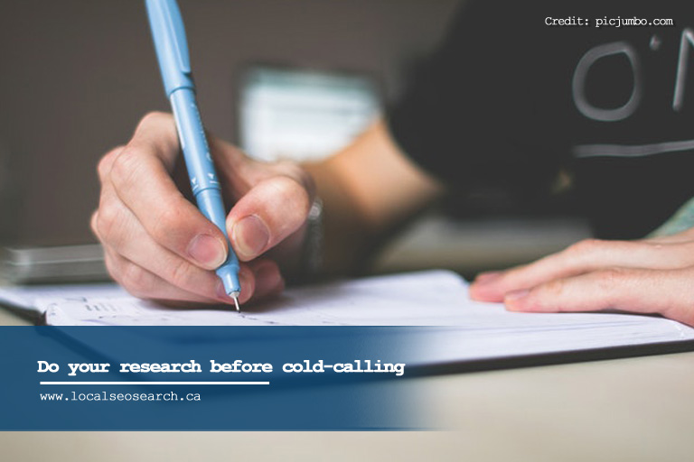 Do your research before cold-calling