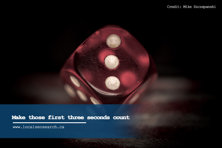 Make those first three seconds count