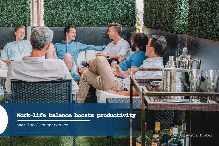 Work-life balance boosts productivity