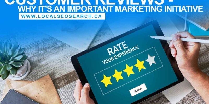 Customer Reviews - Why It's an Important Marketing Initiative