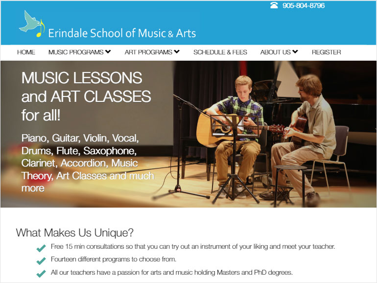 Erindale School of Music & Arts