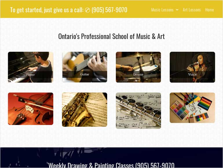 Ontario's Professional School of Music & Art