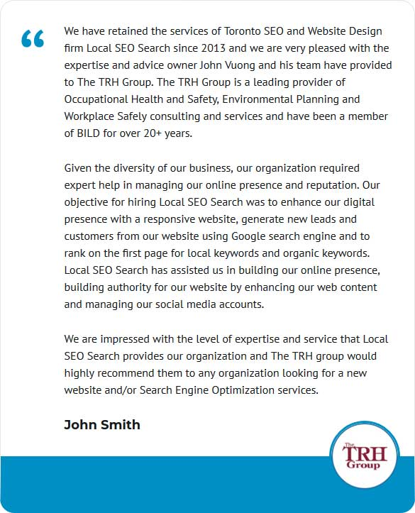 trh group testimonial