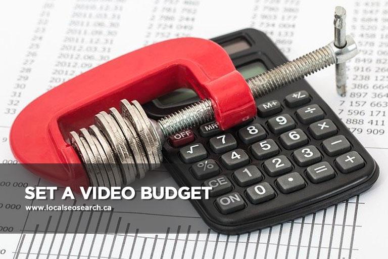 Set-a-Video-Budget