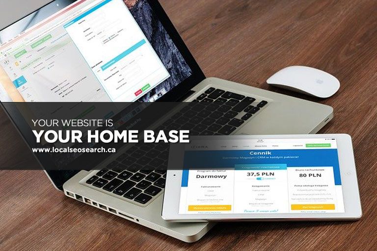 Website is Your Home Base
