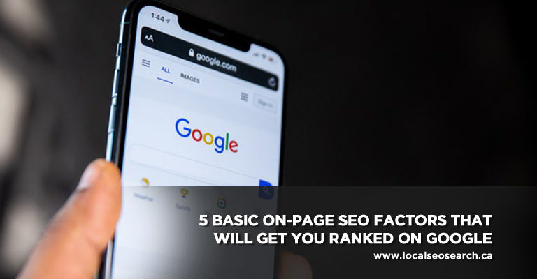 5 important On-Page Factors for SEO