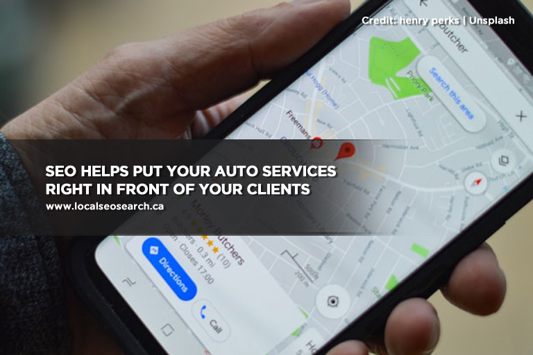 SEO helps put your auto services right in front of your clients