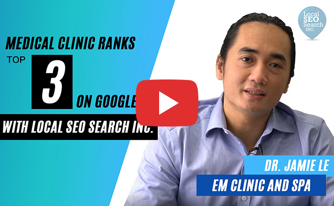 Medical clinic ranks top 3 on Google with Local SEO Search