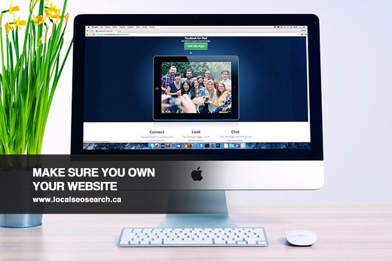 Make Sure You Own Your Website