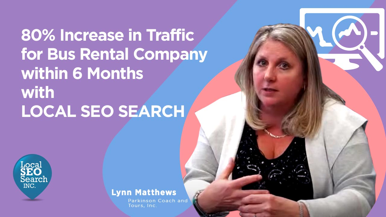 80 Increase in Traffic For Bus Rental Company Within 6 Months With Local SEO Search