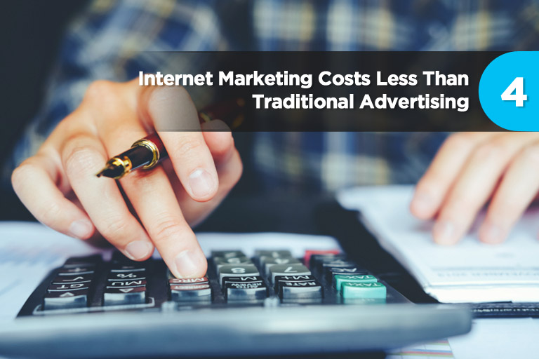 Internet Marketing Costs Less Than Traditional Advertising