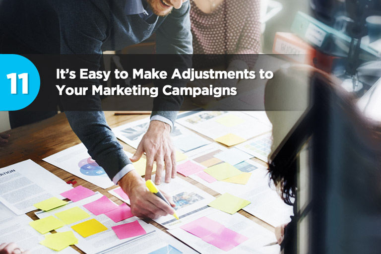 It's Easy to Make Adjustments to Your Marketing Campaigns