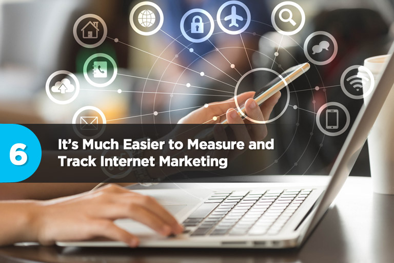 It's Much Easier to Measure and Track Internet Marketing