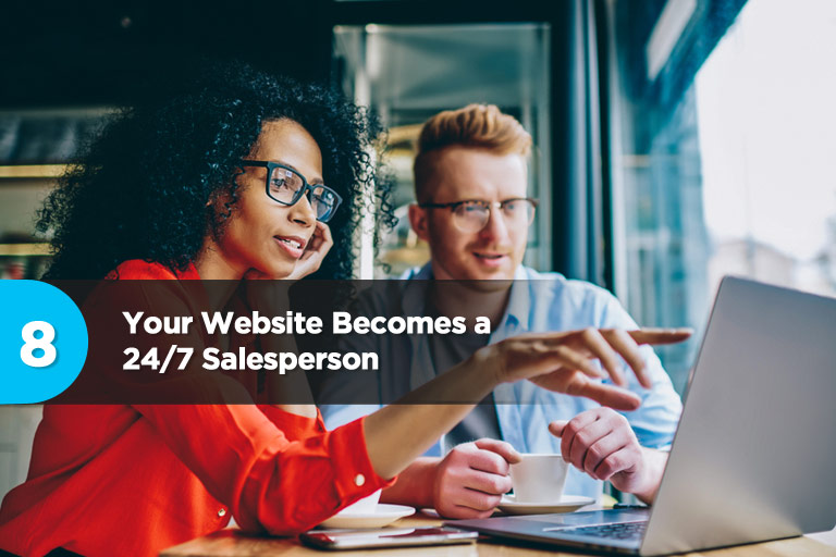 Your Website Becomes a 24/7 Salesperson