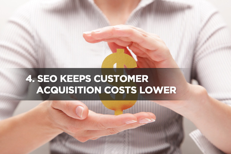 SEO Keeps Customer Acquisition Costs Lower