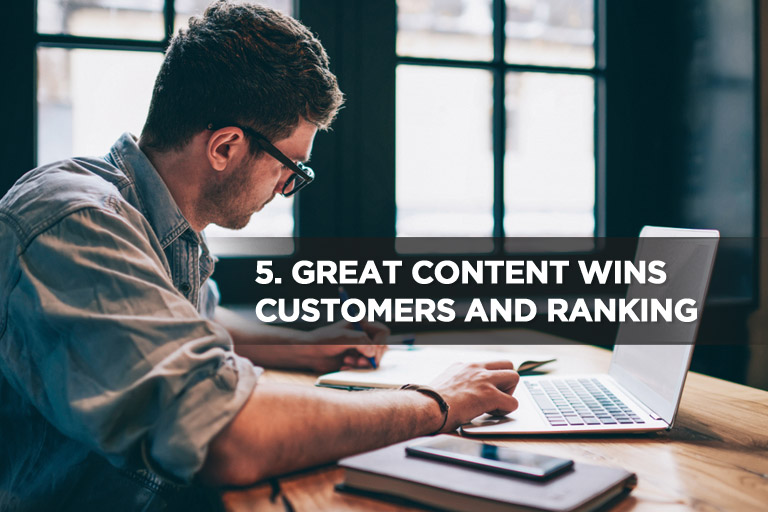 Great Content Wins Customers and Ranking