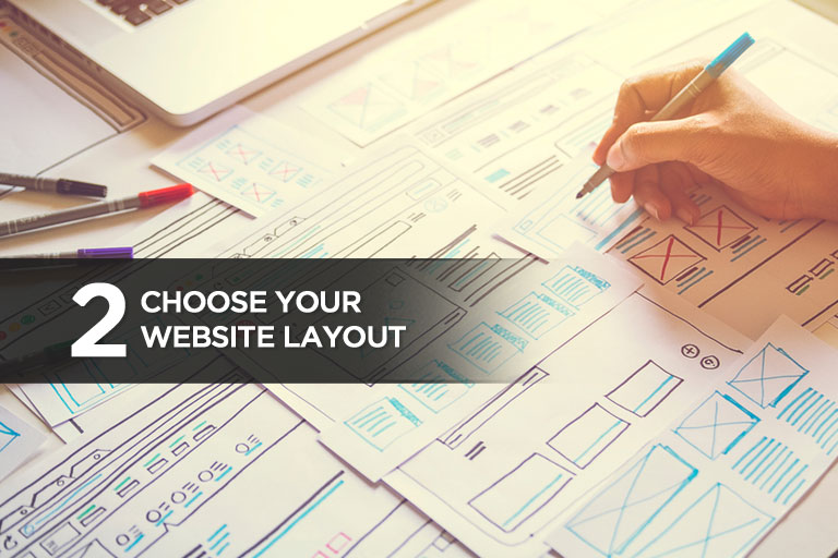 2. Choose Your Website Layout