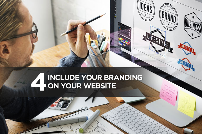 Include Your Branding on Your Website