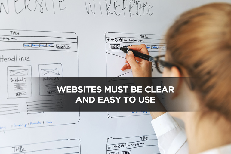 Websites Must Be Clear and Easy to Use