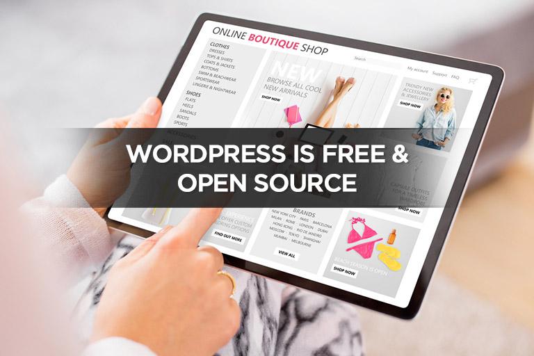 WordPress is Free & Open Source