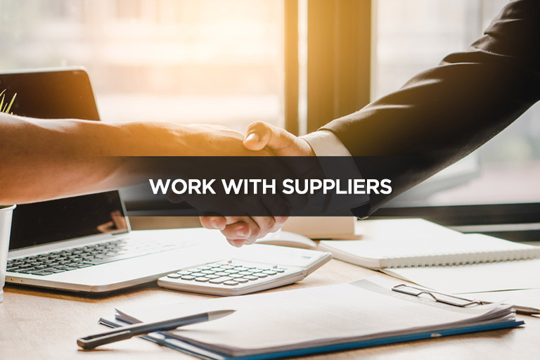 Work With Suppliers