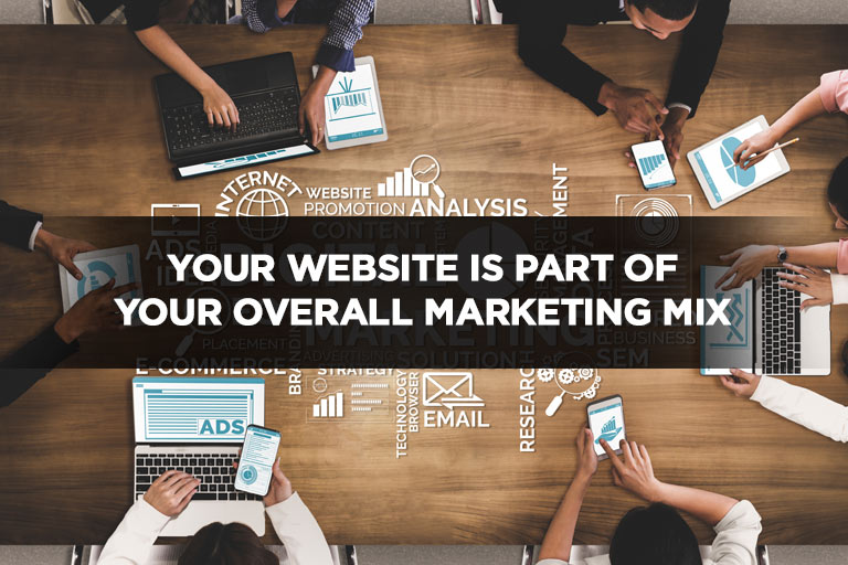 Your Website is Part of Your Overall Marketing Mix